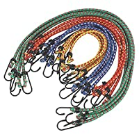 Heavy Duty Bungee Cords 12 in a Pack Shock Cord Ties - Tarpaulin Elastic BUNGY Cords - Tent/Tarp Fixings 6