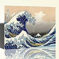 La Grande Onda di Kanagawa Stampa su Tela Canvas Quadro Arredamento
