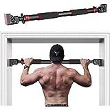 HANDSONIC Pull Up Bar voor Deuropening, Geen Schroeven Chin Up Bar Verstelbare Dip Bars voor Thuis Gym Oefening Fitness & 200