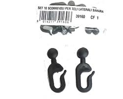 I JARDINI 39160 Glissières en plastique pour tonnelle Sahara, noir