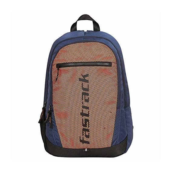 Fastrack 32.38 Ltrs Orange School Polyester Backpack (A0698NOR01)