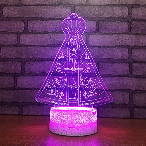 3D Optisches Nachtlicht Nachttischlampe Für Kinder LED Tischleuchte Dekoratives Licht 7 Farben Andern Touch Switch Acryl USB Batterie Crack Basis International Chess