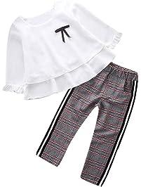 K-youth Conjunto de Ropa para Niñas Ropa Bebe Niño Camiseta de Manga Larga Blusas