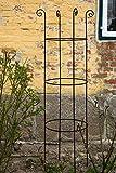 kuheiga Stabile Rankhilfe Metall H: 180cm Ø: 49cm Rankgerüst Obelisk Schwarz Rankturm