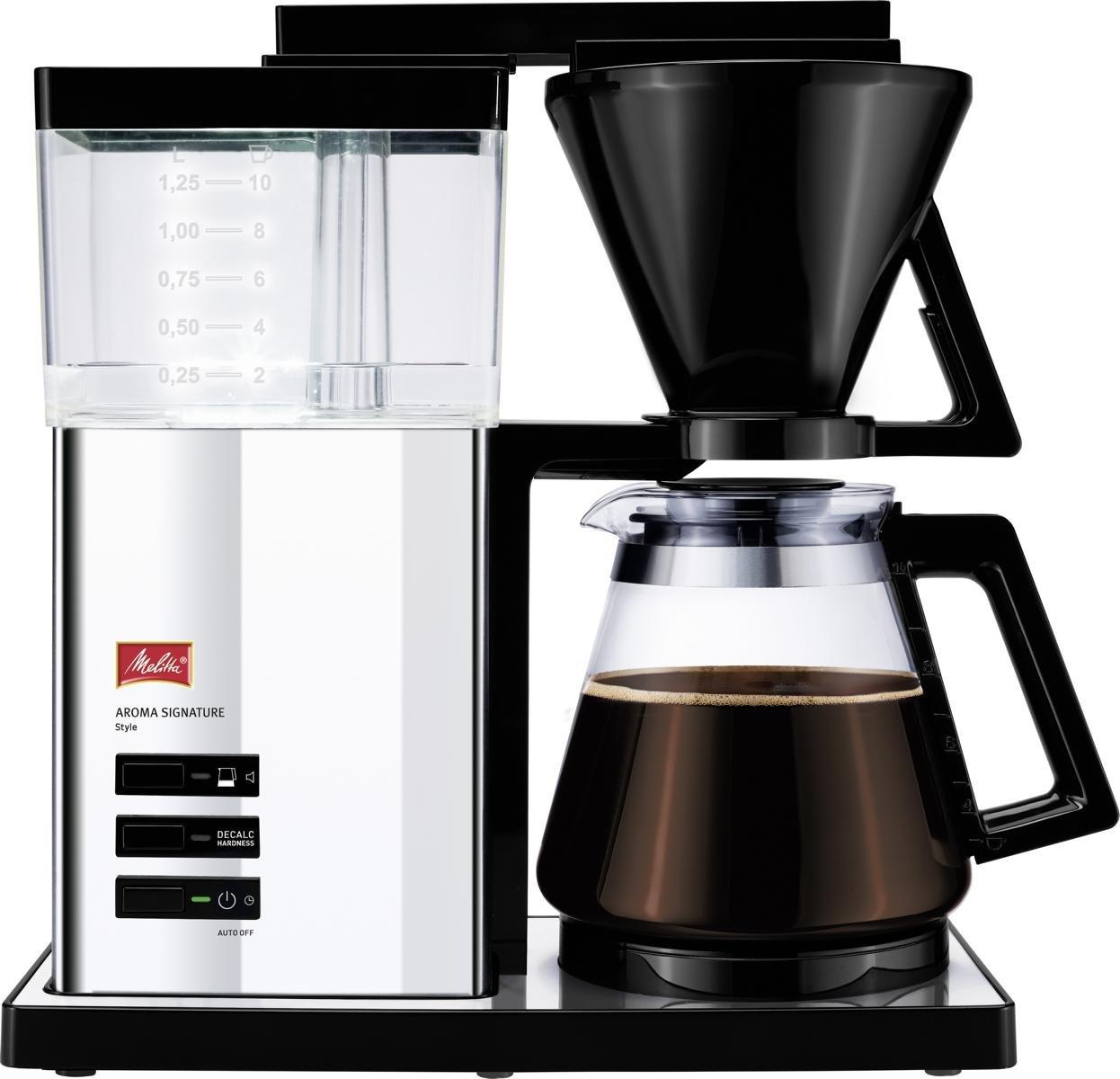 Melitta-100702-Aroma-Signature-De-Luxe-Kaffeefiltermaschine–AromaschalterEdelstahl