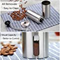 LA TECH Manual Coffee Grinder Stainless Steel Body with Ceramic Burr Hand Crank Coffee Mill with Adjustable Coarseness Screw Perfect for Travelling Small by LA TECH
