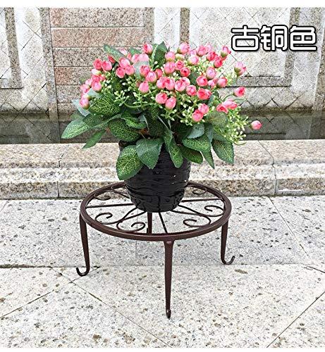 GFGHH European Balcony and Indoor Flower Pot Holder Garden Flower Stand Iron Flower pergolas White Black and Copper Color