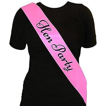Lumanuby Écharpe personnalisable pour enterrement de vie de jeune fille et  fête Rose, Tissu, pink 1, 156   9.5CM a676135af77