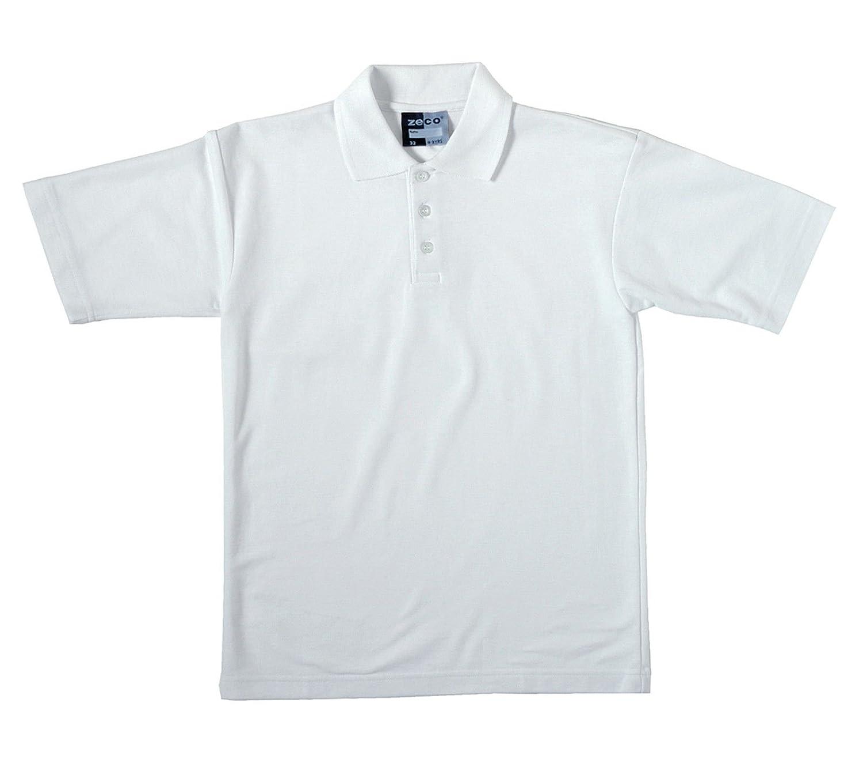 T shirt white black - Boys School White Short Sleeve Polo T Shirt Ages 2 11 Free Postage Amazon Co Uk Clothing