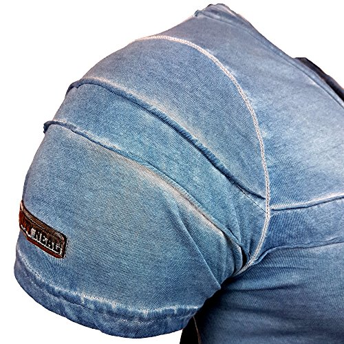 NEU - Rusty Neal V-Neck T-Shirt Kurzarm Motiv Shirt Design Fashion Style 15089 Petrol