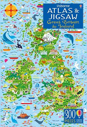 Usborne Atlas and Jigsaw Great Britain and Ireland por Sam Smith