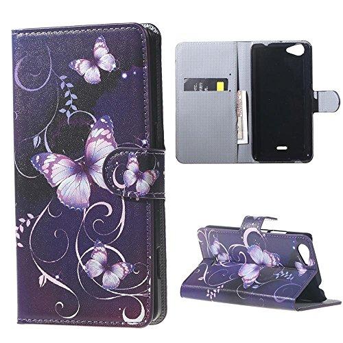 DETUOSI Schutzhülle Kompatibel mit Wiko Rainbow Jam (5 Zoll) Tasche PU Leder [Flip Wallet Case] für Wiko Rainbow Jam Handyhülle Tasche Etui Schale mit Standfunktion Kartenfächer