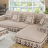 M&XGF Schnittsofa Werfen Abdeckung Pad Baumwolle und leinen Sofa möbel Protector für Haustiere Kinder Anti-Rutsch Slipcovers -1 stück-L 80x160cm(31x63inch)