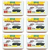 Stähler GARDOPIA Sparpaket: 6 x Dr Mäuseköder-Depot mit Schlagfalle Mausefalle Köderbox abschließbar + Gardopia Zeckenzange mit Lupe