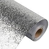 Kitchen-dream Carta da Parati del Foglio di Alluminio Carte da Parati autoadesive Impermeabili stagnola dargento Cucina Bagno Decorazione Adesivi murali Resistenti allumidità a Prova di Olio
