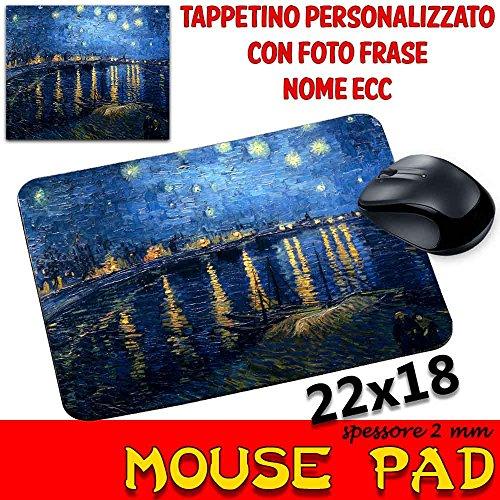 Mauspad Maus Pad personalisierbar SP 2mm Kollektion van Gogh Sternennacht über der Rhone