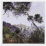 """Claude Monet Bordighera, Italy, 1884Grußkarte ist eine großartige Möglichkeit zu sagen, """"Danke oder jeden Anlass zu würdigen. Diese Blanko-Karten sind aus widerstandsfähigem, Stock, der beim Verschmieren kostenlos. Karten sind zerknittert für leicht..."""