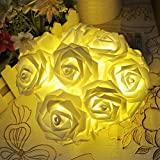 LED Rose Flower Warm White String Decoration Light For Home Decoration Diwali Christmas