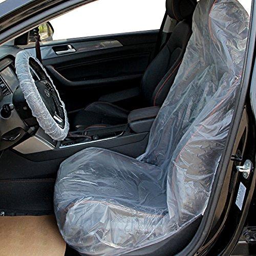 10 pz Auto Coprisedili Plastica Trasparente Usa e Getta Universale + 10 pz Coprivolante + 10 pz Cover di Leva del Cambio Protezio