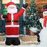 auspilybiber Gonfiabili Natalizi, Decorazioni Natalizie da Giardino Modello Babbo Natale Gonfiabile 2.4M, Decorazioni Natalizie a Scoppio, per Interni ed Esterni Upgrade