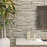 HANMERO Murales de pared papel pintado imitación ladrillo piedras papel de pared...