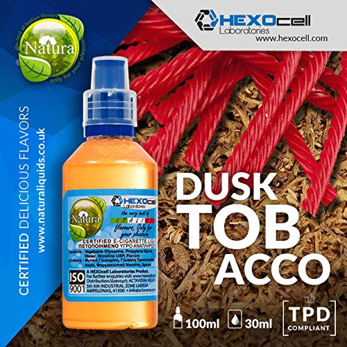 E LIQUID PARA VAPEAR - 30ml Dusk Tobacco Suave tabaco