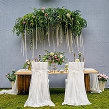 Yunt 2pcs Housse De Chaise Mariage Voilage DIY Dcoration Pour Anniversaire Crmonie Partie