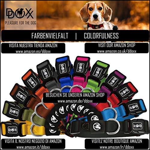 Hundehalsband Halsung aus Premium-Nylon verschiedene Farben und Groessen XS, S, M, L, XL: verstellbar, stabil, bequem, weich, farbig, fuer grosse und kleine Hunde (Leine und Geschirr separat erhaeltlich) (Farbe Schwarz, Größe XS – 1,0 x 21-30 cm) - 5