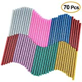 KUUQA 70 Pcs Glitter Hot Melt Colla colla stick per DIY Art Craft 7 x 100mm (7 colori)