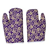 #9: Kuber Industries™ Cotton Microwave Oven Gloves 18 X 32 CM (Set of 2)