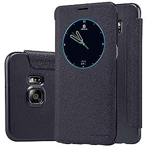 Nillkin Sparkle - Housse coque de protection avec capot avant et veille intelligente pour Samsung Galaxy S6 Edge Plus - Noir