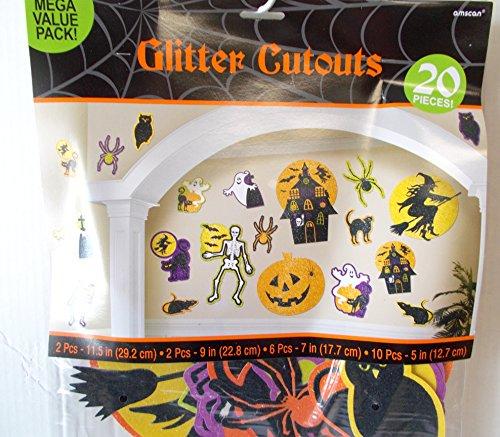 Decoración de pared brillante Halloween