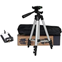 3110 Portable and Foldable Tripod with Mobile Clip Holder Bracket, Fully Flexible Mount with 3 Dimensional Head for…
