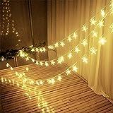 Dekorativ Lichterketten, 3M 30 LEDs LED Lichterkette Warmweiß String Licht Sternenlicht für Innen, Garten, Weihnachten, Hochzeit, Party, Haus Dekoration von Konomio