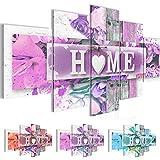 Bild 200 x 100 cm - Home Bilder- Vlies Leinwand - Deko für Wohnzimmer -Wandbild - XXL 5 Teilig Teile - leichtes Aufhängen- 802851b