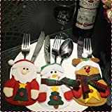Colorfu lword 3pcs Christmas Kitchen knifes Forks Cutlery Set Dinner Ware Cover Decoration Navidad decoración Vajilla protectora