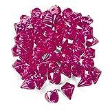 cama24com Dekosteine Diamanten aus Plastik 25 Stück Pink Magenta Tischdeko Streuteile Palandi®