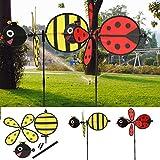 Dairyshop 1PC manosean la decoración del jardín de la yarda casera del hilandero del viento de Whirligig Windmill del molino de viento de la abeja / de la abeja de la abeja