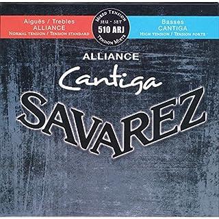 Savarez Saiten für Klassikgitarre Alliance Cantiga Satz 510ARJ Mixed Tension blau-rot Diskant normal, Bass high