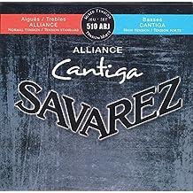 Savarez 656247 - Cuerdas para Guitarra Clásica Alliance Cantiga juego 510ARJ Tensión mezclada azul-rojo, Cuerdas agudas normal, Cuerdas graves alta