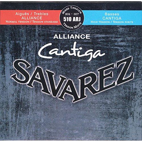 Savarez Saiten für Klassikgitarre Alliance Cantiga Satz 510ARJ Mixed Tension blau-rot Diskant normal, Bass high (Mixed Korn)