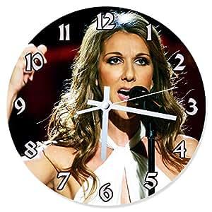 Horloge en Verre Céline Dion Diamètre 30 cm