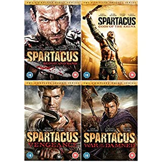 Spartacus: The Complete Season DVD Collection : Spartacus: Blood And Sand Season 1 / Spartacus: Gods of the Arena / Spartacus - Vengeance / Spartacus:War of the Damned + Extras