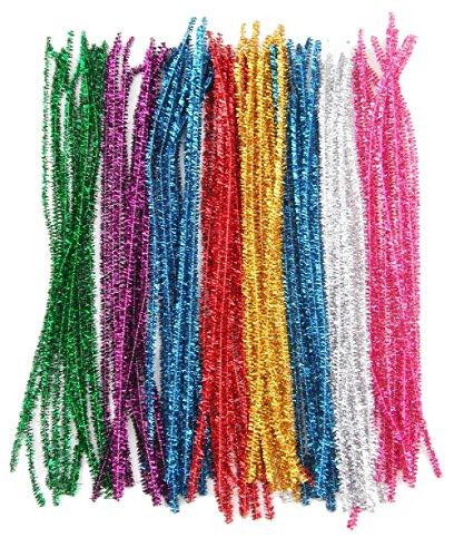 Joyfeel buy Limpiadores de Pipa Tallos de Chenilla limpiapipas Brillante DIY Artesanal Juguete para niños Manualidades 100 Piezas 10 Colors Aleatorio 11.81''