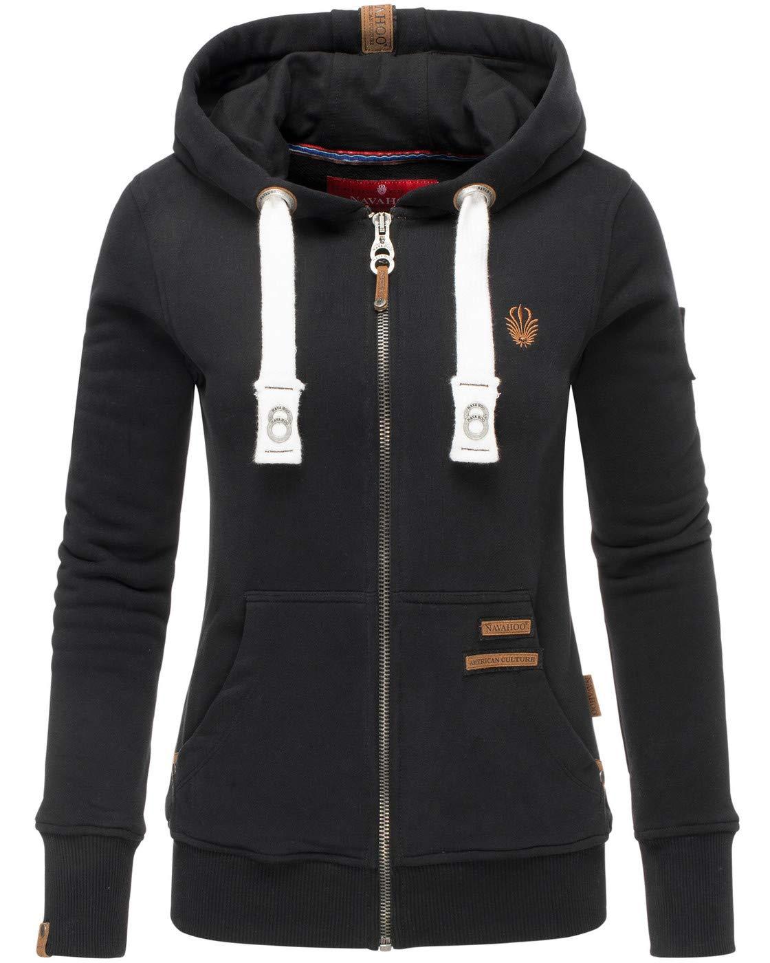 Navahoo Damen Sweatshirt Hoodie Pullover Pulli Sweater Sweatjacke Kapuze B564