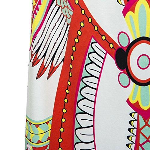 Smile YKK Femme Style National Longue Été Jupe Imprimé Vogue Blanc