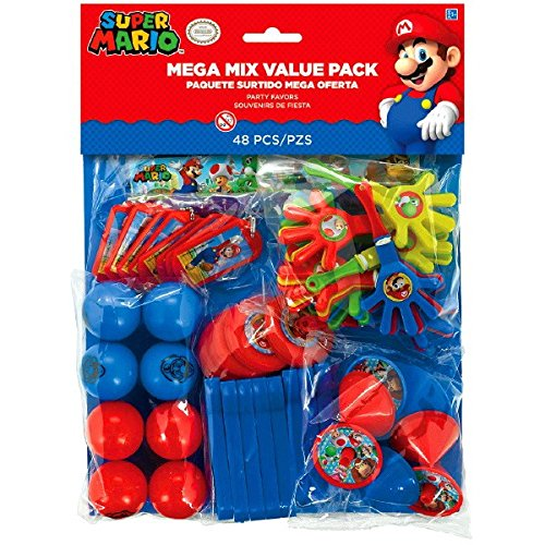 Amscan 396607 Super Mario Mega Mix Value Pack (Mario Dress Up)