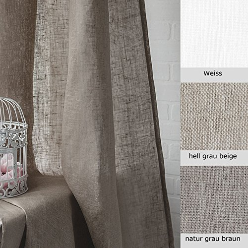 Tende lino grezzo - tende in lino moderne - tende interni - tende classiche - tende casa - 140 x 300 cm