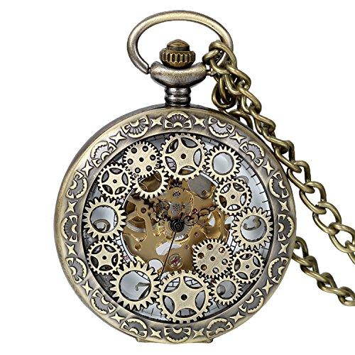 Reloj de bolsillo Vintage con acabado en bronce