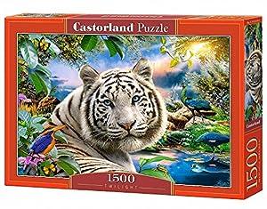 Castorland Twilight 1500 pcs Puzzle - Rompecabezas (Puzzle Rompecabezas, Fauna, Niños y Adultos, Tigre, Niño/niña, 9 año(s))